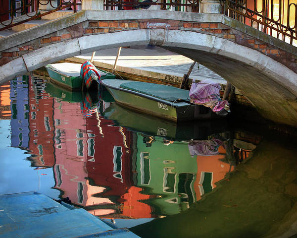 Photograph - Burano Reflections II by Harriet Feagin