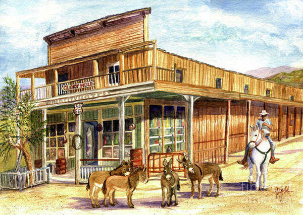 Painting - Burros Are Back In Town by Marilyn Smith