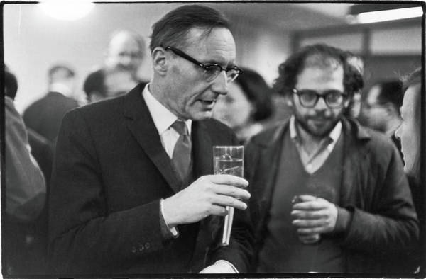 Suit Photograph - Burroughs & Ginsberg At Grove Press by Fred W. McDarrah