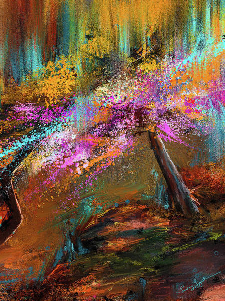 Painting - Burst Of Blooms - Garvan Woodland Gardens Hot Springs, Arkansas by Lourry Legarde