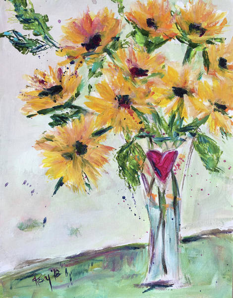 Flower Painting - Burst Of Love by Roxy Rich