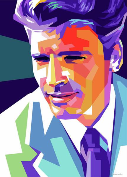 Pop Star Digital Art - Burt Lancaster Pop Art by Stars-on- Art
