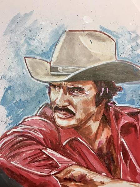 Painting - Burt Reynolds by Joel Tesch