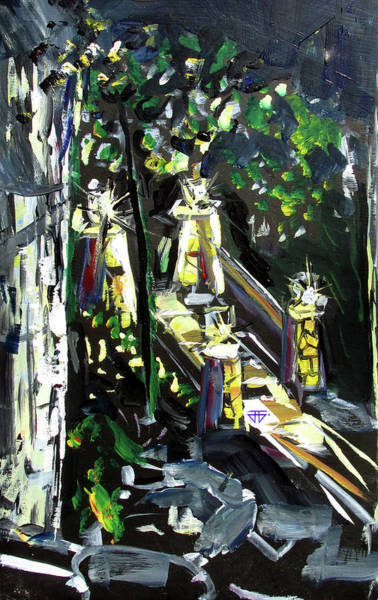 Painting - Burton Lanterns by John Jr Gholson