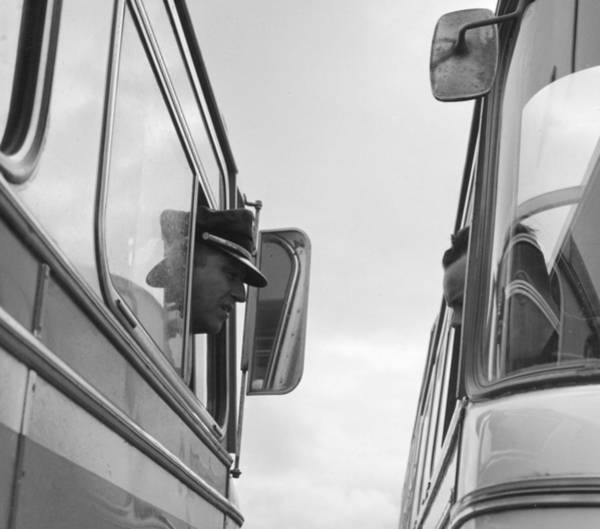 Headshot Photograph - Bus Drivers by Three Lions