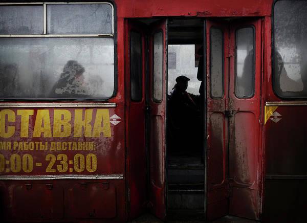 Moldova Wall Art - Photograph - Bus In Tiraspol by Amos Chapple