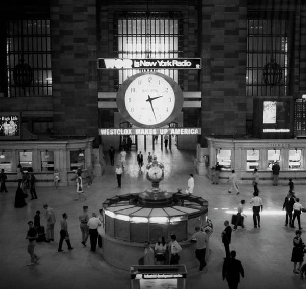 Wall Art - Photograph - Bus Or Train Station Interior by George Marks