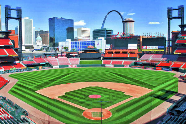 Painting - Busch Stadium St Louis Cardinals Baseball Ballpark Stadium by Christopher Arndt