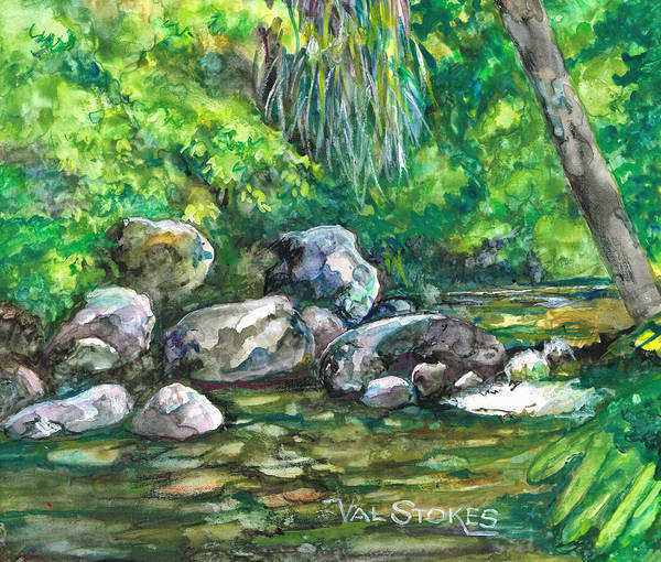 Painting - Bush Setting by Val Stokes