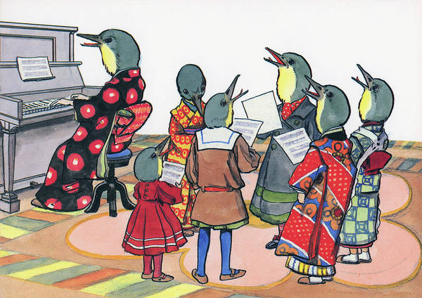 Wall Art - Painting - Bush Warbler Of Chorus - Digital Remastered Edition by Kitazawa Rakuten