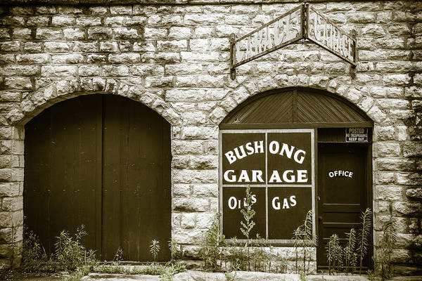 Wall Art - Photograph - Bushong Garage by Steven Bateson