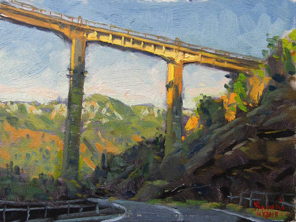 Trains Painting - Bushtrica Bridge Albania by Ylli Haruni