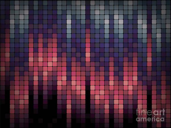 Wall Art - Digital Art - Business Blox - Geometric Repeating by Undergroundarts.co.uk