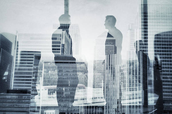 Office Manager Wall Art - Photograph - Business In The City by Xavierarnau