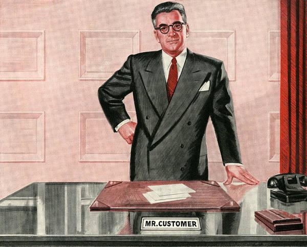 Archival Digital Art - Businessman Behind His Desk by Graphicaartis
