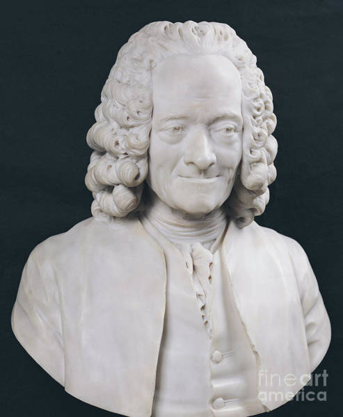Wall Art - Sculpture - Bust Of Francois Marie Arouet De Voltaire by Jean-Antoine Houdon