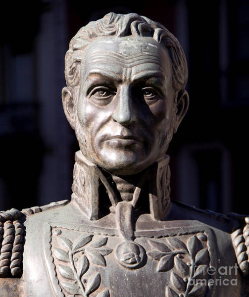 Wall Art - Sculpture - Bust Of Simon Bolivar by French School