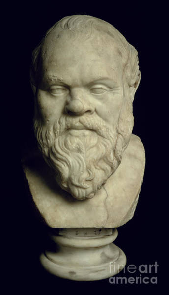 Wall Art - Photograph - Bust Of Socrates, Marble by Greek School