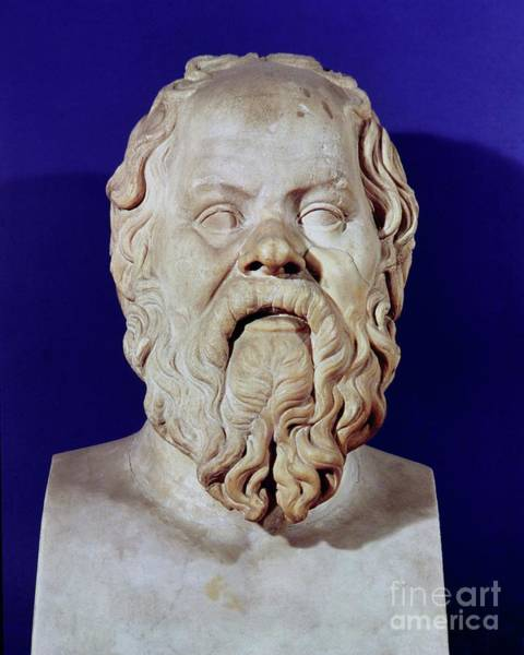 Wall Art - Photograph - Bust Of Socrates, Stone by Greco Roman