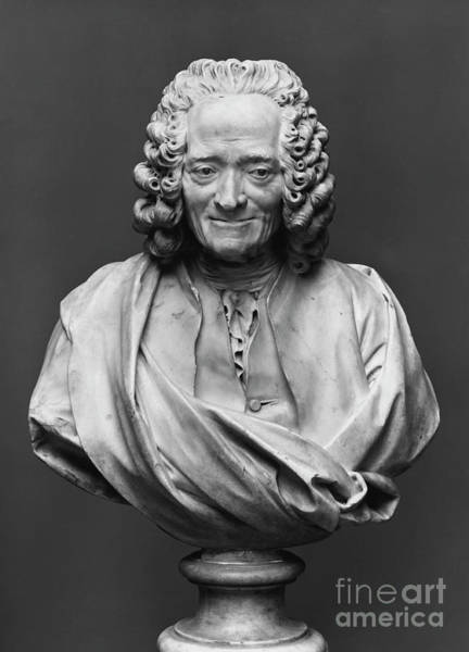 Wall Art - Sculpture - Bust Of Voltaire, Marble by Jean-Antoine Houdon