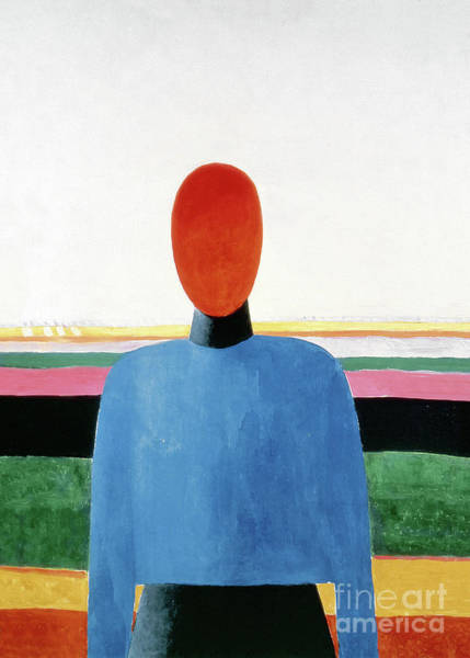 Painting - Bust Of Woman by Kazimir Malevich