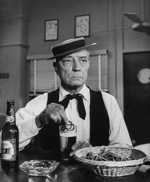 Photograph - Buster Keaton by Loomis Dean