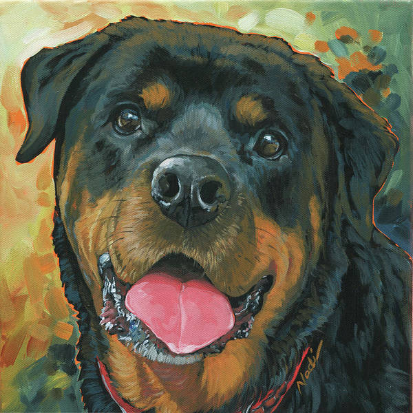 Rottweiler Painting - Buster by Nadi Spencer