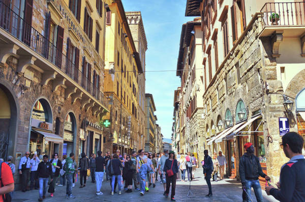 Photograph - Busy Florence Streets by JAMART Photography