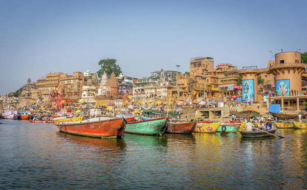 Photograph - Busy Ghats Varanasi by Gary Gillette