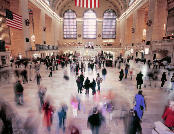 Real People Photograph - Busy Hall Of Grand Central Station In by Eschcollection