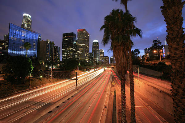 Southern Usa Photograph - Busy La Freeway At Night by Ekash
