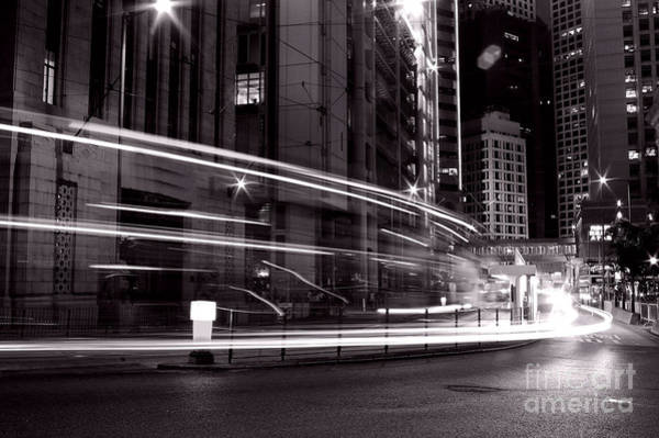 Wall Art - Photograph - Busy Traffic In Hong Kong At Night In by Kawing921