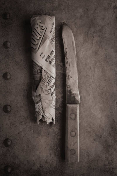 Wall Art - Photograph - Butcher Knife And Sheath by Tom Mc Nemar