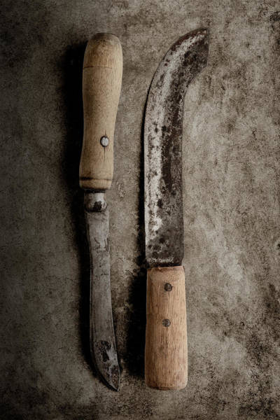 Kitchen Utensil Photograph - Butcher Knives by Tom Mc Nemar