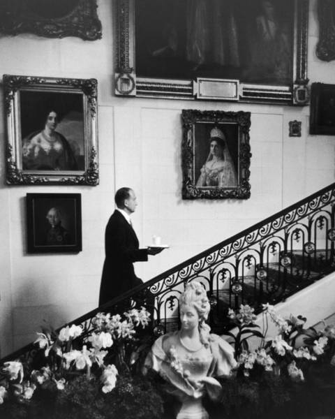 Businesswoman Photograph - Butler At Hillwood Estate by Alfred Eisenstaedt