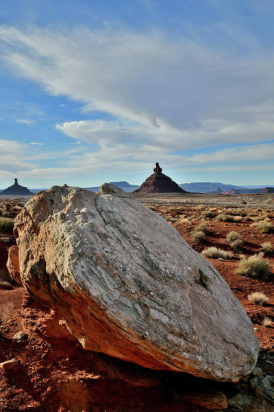 Photograph - Butte And Boulder In Valley Of The Gods by Ray Mathis