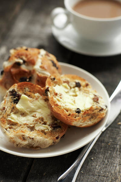 Buns Photograph - Buttered Hot Cross Buns by Phil Ashley