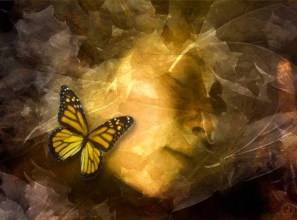 Hibernation Wall Art - Digital Art - Butterflay Says It Is Time For Winter Sleep by Gun Legler