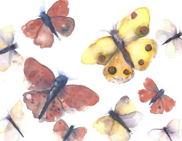 Painting - Butterflies by Dawn Derman