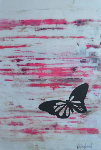 Avondet Wall Art - Digital Art - Butterflies On Pink I by Natalie Avondet