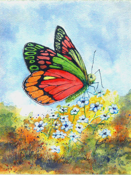 Painting - Butterfly 190724 by Sam Sidders