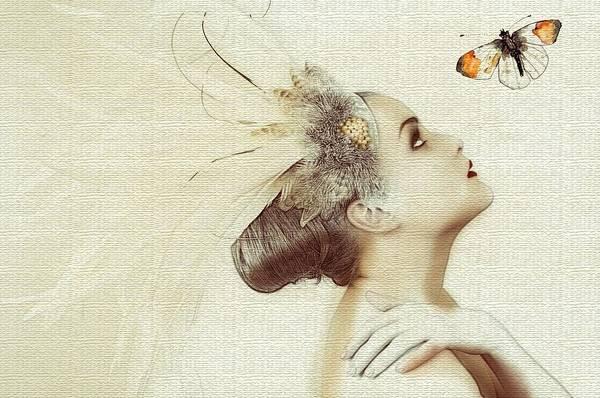Wall Art - Painting - Butterfly Fairy by ArtMarketJapan
