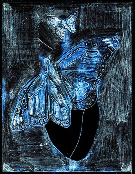 Digital Art - Butterfly Garden At Blue Night 32 by Artist Dot