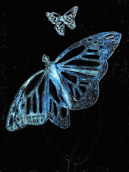 Digital Art - Butterfly Garden At Blue Night 4 by Artist Dot