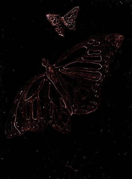 Digital Art - Butterfly Garden At Dark Night 5 by Artist Dot