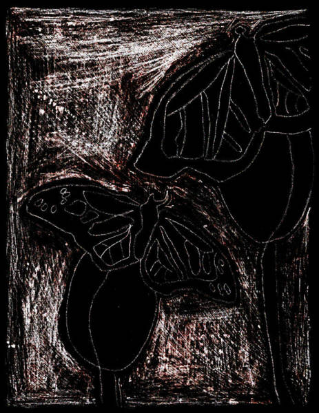 Digital Art - Butterfly Garden At Night 16 by Artist Dot