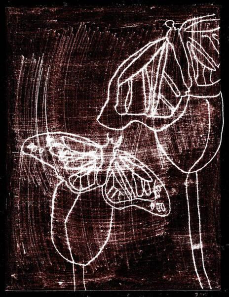Digital Art - Butterfly Garden At Night 2 by Artist Dot