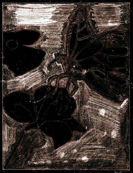 Digital Art - Butterfly Garden At Night 25 by Artist Dot