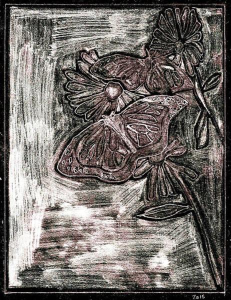 Digital Art - Butterfly Garden At Night 28 by Artist Dot