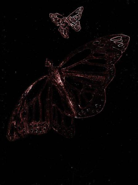 Digital Art - Butterfly Garden At Night 3 by Artist Dot